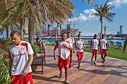Jogadores da equipe do S.C. Internacional após sessão de fitness no Rotana Beach Hotel. O S.C. Internacional participa de 8 a 18 de dezembro do Mundial de Clubes da FIFA, em Abu Dhabi. FOTO: Jefferson Bernardes/Preview.com