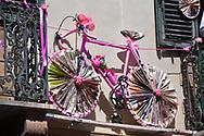 Illustration, Alghero City, Pink Bike, during the 100th Tour of Italy 2017, Giro d'Italia, Stage 1, Alghero - Olbia (206km), on May 5, in Sardegna, Italy - Photo Tim De Waele / ProSportsImages / DPPI