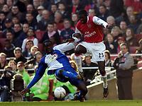 Photo: Olly Greenwood.<br />Arsenal v Blackburn Rovers. The FA Cup. 17/02/2007. Arsenal's Emmanuel Adebayor comes on for Theo Walcott