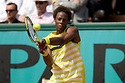 Paris, France. May 26th 2009. .Roland Garros - Tennis French Open. 1st Round..French player Gael Monfils against Bobby Reynolds