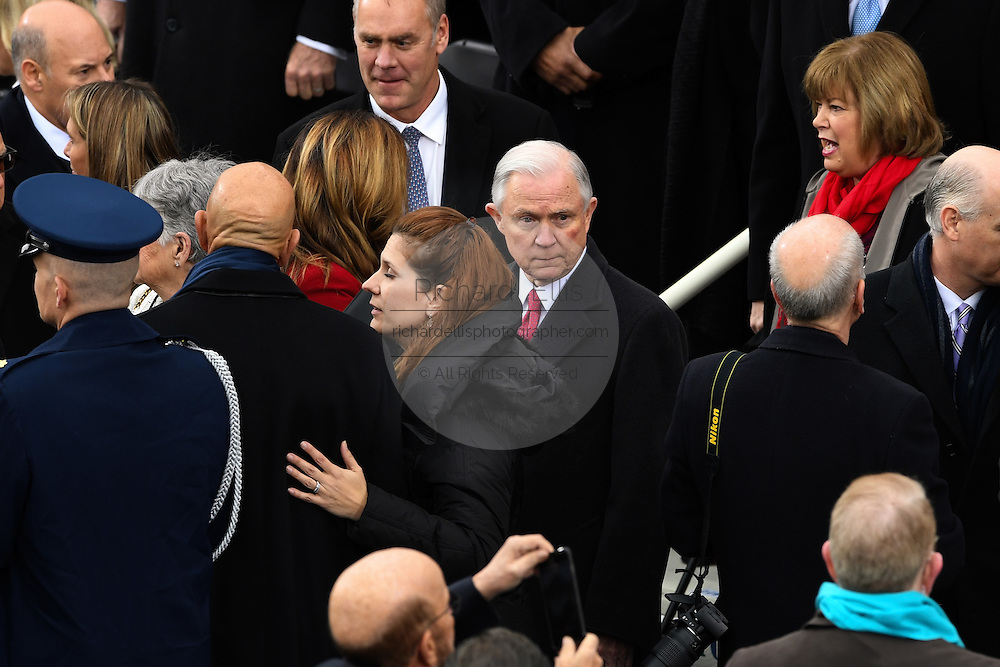 Attorney General nominee Jeff Sessions arrives for the 68th President Inaugural Ceremony of President Donald Trump on Capitol Hill January 20, 2017 in Washington, DC.
