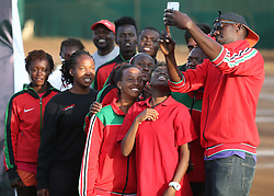 Kenya team takes a selfie during their 14th African Nations Cup (CAN) 2016 on the Final day at Nairobi Club on November 13, 2016. Photo/Fredrick Onyango/www.pic-centre.com (KEN)
