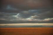 Stormy skies over the savannah of Amboseli National Park, Kenya