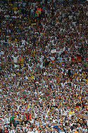 German fans celebrate winning the World Cup during the 2014 FIFA World Cup Final match at Maracana Stadium, Rio de Janeiro<br /> Picture by Andrew Tobin/Focus Images Ltd +44 7710 761829<br /> 13/07/2014