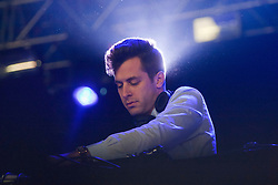 Mark Ronson playing a DJ set at the Goldenvoice Arena on Friday night..RockNess 2011, the annual music festival which takes place in Scotland at Clune Farm, Dores, on the banks of Loch Ness near Inverness..Pic ©2011 Michael Schofield. All Rights Reserved..