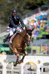 Bost Roger Yves, FRA, Sydney Une Prince<br /> owner of the horse of Jerome with arms in the air<br /> Olympic Games Rio 2016<br /> © Hippo Foto - Dirk Caremans<br /> 14/08/16