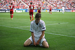 Italy's Frederico Chiesa shows his dejection