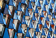 Oxford Street faceted glass facade by architect's Future Systems (now Amanda Levete Architects), built 2008. 187-195 Oxford Street, London