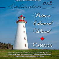 2018 Prince Edward Island Calendar<br /> <br /> 11x14 printed in the USA on 30% Recycled Fine Art Matte Paper<br /> <br /> Featuring images from Cavendish, Red Head Harbour, Woods Island Lighthouse, Tryon Lighthouse, Point Prim Lighthouse, Greenwich sand dunes, and rural images of potato and mussel farms, and boats, and landscapes.