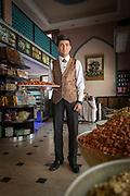 Serajaddin, salesman at Sadaf Iranian Sweets shop, United Arab Emirates