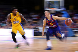 November 1, 2018 - Barcelona, Catalonia, Spain - Thomas Heurtel and Kendrick Ray during the match between FC Barcelona and Maccabi Tel Aviv, corresponding to the week 5 of the Euroleague, played at the Palau Blaugrana, on 01 November 2018, in Barcelona, Spain. (Credit Image: © Joan Valls/NurPhoto via ZUMA Press)