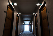 A view down the hallway inside Hotel Indigo along East Washington Avenue in Madison, WI on Wednesday, April 17, 2019.