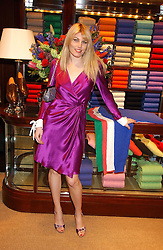 MEREDITH OSTROM at a party at Ralph Lauren, Bond Street, London in support of the NSPCC's Full Stop campaign on 21st March 2006.<br />
