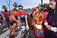 Start; Bob JUNGELS (LUX), Fans, Public, Traditional dress, during the 100th Tour of Italy 2017, Giro d'Italia, Stage 1, Alghero - Olbia (206km), on May 5, in Sardegna, Italy - Photo Tim De Waele / ProSportsImages / DPPI