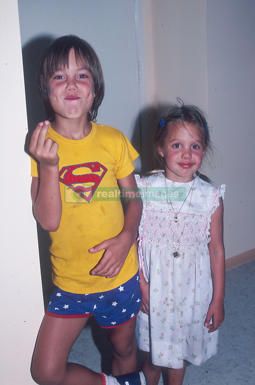 Aug 07, 1979 - Los Angeles, CA, USA - EXCLUSIVE! 'Mags and TV Call for Price'! Seen here with her brother, JAMES HAVEN (left), ANGELINA JOLIE (right), was a bit more shy at  4-years-old than she is now.  (Credit Image: © Michael Jacobs/ZUMAPRESS.com)