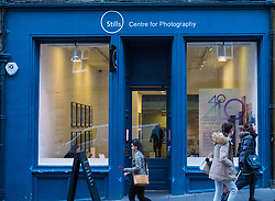 Exterior of Stills Centre for Photography on Cockburn Street in Edinburgh Old Town, Scotland, united Kingdom
