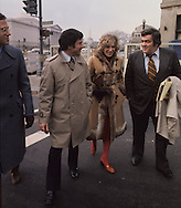 Watergate special prosecutors Richard kBen Veniste and Jill Volner talk with  report Jimmy Breslin on their way to US District Court in January 1975..Photograph by Dennis Brack