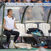 BRUSSELS, BELGIUM:  September 3:   Nicola McDermott of Australia rests between jumps during the high jump competition at the Wanda Diamond League 2021 Memorial Van Damme Athletics competition at King Baudouin Stadium on September 3, 2021 in  Brussels, Belgium. (Photo by Tim Clayton/Corbis via Getty Images)