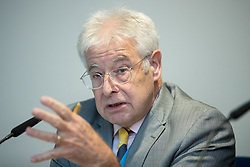 """© Licensed to London News Pictures . 01/10/2018. Birmingham, UK. Professor Alan Winters , Director of the UK Trade Observatory . Prospect magazine fringe event titled """" Beyond tariffs where are our opportunities to boost trade post-Brexit """" , supported by Associated British Ports . Day 2 of the Conservative Party conference at the ICC in Birmingham . Photo credit: Joel Goodman/LNP"""