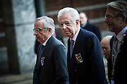Italian Prime Minister Mario Monti arrives at The Nobel Peace Prize ceremony in Oslo.