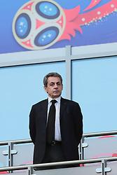 June 16, 2018 - Kazan, Kazan, Russia - Former French President Nicolas Sarkozy during a  Group C 2018 FIFA World Cup soccer match between France and Australia on June 16, 2018, at the Kazan Arena in Kazan, Russia. (Credit Image: © Anatolij Medved/NurPhoto via ZUMA Press)
