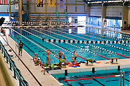 East Meadow, New York, U.S. 15th July 2013. The swimming pool at the Nassau County Aquatic Center at Eisenhower Park has lanes for swim classes, along with an area for people to swim and cool off in the pool, as the National Weather Service extends its Heat Advisory to all of Long Island, New York. Temperatures in the 90's Fahrenheit (over 32 degrees Celsius) spread throughout Eastern U.S., and the dangerously hot humid weather threatens to last the entire week.