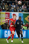Kevin De Bruyne of Belgium and Blaise Matuidi of France during the 2018 FIFA World Cup Russia, Semi Final football match between France and Belgium on July 10, 2018 at Saint Petersburg Stadium in Saint Petersburg, Russia - Photo Thiago Bernardes / FramePhoto / ProSportsImages / DPPI