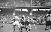 Kerry forward runs past Down defender Mc Cartan during the All Ireland Senior Gaelic Football Final Kerry v Down in Croke Park on the 22nd September 1968. Down 2-12 Kerry 1-13.