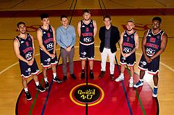 Chris Taylor, Tevin Falzon, Good 4 U's Karol Butler, Mike Vigor, Good 4 U's Mark Butler, Jordan Nicholls, Marcus Delpeche - Ryan Hiscott/JMP - 10/01/2019 - COMMERCIAL - SGS College - Bristol, England - Bristol Flyers Announce Sponsor Partnership with Good 4 U