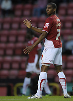 Bristol City's Marvin Elliott<br /> Bristol City vs Carlisle<br /> Carling Cup Round 2, Ashton Gate, Bristol, UK<br /> 26/08/2009. Credit Colorsport/Dan Rowley<br /> Football