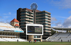 Action during the 100 Ball Trial match at Trent Bridge, Nottingham.