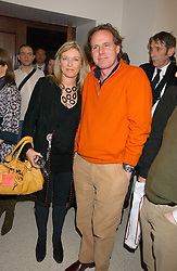 MR JAMES LINDSAY and HATTI BEAUMONT at a concert by Charlotte Gordon Cumming in aid of Tusk held at the National Geographical Society, 1 Kensington Gore, London SW7 on 16th March 2006.<br />