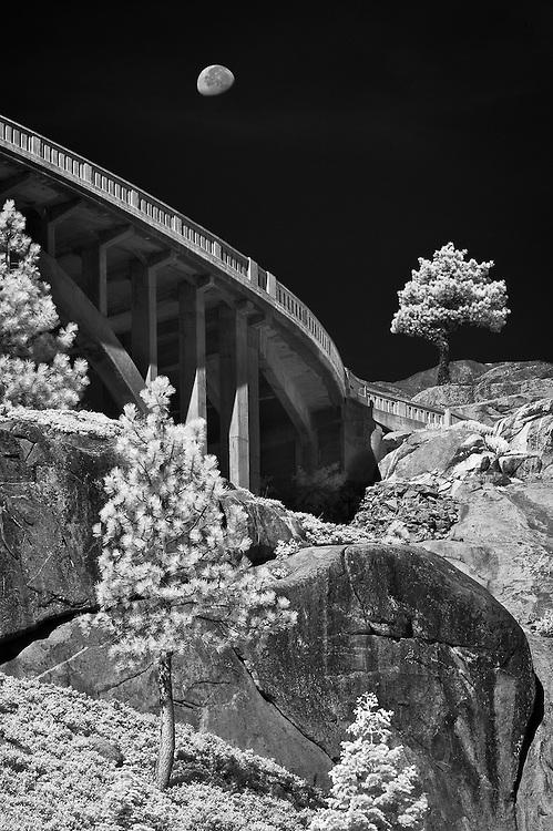 Moon Over Donner Pass Bridge, Truckee, CA