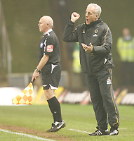 Photo: Steve Bond/Sportsbeat Images.<br />Wolverhampton Wanderers v Leicester City. Coca Cola Championship. 22/12/2007. Mick McCarthy gives instructions