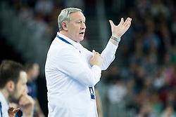 Zvonimir Serdarusic, head coach of Paris Sant-Germain during handball match between PPD Zagreb (CRO) and Paris Saint-Germain (FRA) in 11th Round of Group Phase of EHF Champions League 2015/16, on February 10, 2016 in Arena Zagreb, Zagreb, Croatia. Photo by Urban Urbanc / Sportida