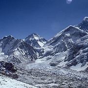 Mt Everest and Khumbu Glacier from Kala Patthar.