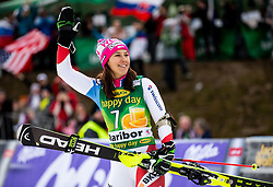Third placed HOLDENER Wendy of Switzerland celebrates during Trophy ceremony after the 7th Ladies'  Slalom at 55th Golden Fox - Maribor of Audi FIS Ski World Cup 2018/19, on February 2, 2019 in Pohorje, Maribor, Slovenia. Photo by Matic Ritonja / Sportida