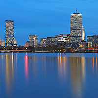 Boston Blue Hour photography featuring familiar landmarks along the Charles River, Prudential Center and 200 Clarendon better known as the John Hancock Tower. This Boston skyline photography image at twilight is available as museum quality photography prints, canvas prints, acrylic prints or metal prints. Fine art prints may be framed and matted to the individual liking and decorating needs:<br />  <br /> http://juergen-roth.pixels.com/featured/familiar-boston-landmarks-juergen-roth.html<br /> <br /> All Boston Blue Hour photos are available for digital and print photography image licensing at www.RothGalleries.com. Please contact me direct with any questions or request.<br /> <br /> Good light and happy photo making!<br /> <br /> My best,<br /> <br /> Juergen<br /> Prints: http://www.rothgalleries.com<br /> Photo Blog: http://whereintheworldisjuergen.blogspot.com<br /> Instagram: https://www.instagram.com/rothgalleries<br /> Twitter: https://twitter.com/naturefineart<br /> Facebook: https://www.facebook.com/naturefineart