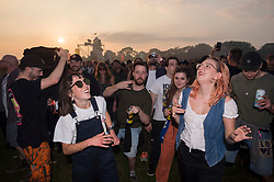 © Licensed to London News Pictures; 03/09/2021; Bristol, UK. Crowds enjoy sunny weather at the Idles on the Downs, where the band Idles will be headlining their Bristol homecoming show. Taking place across three festival-sized stages, the event is a one day festival on the same site on Bristol Downs as Love Saves the Day taking place on Saturday and Sunday. Event organisers Team Love and Simple Things, alongside IDLES, are making available 2,000 complimentary tickets to local NHS workers to say 'thank you' for their amazing work on the frontline of the Covid-19 pandemic.  The festival will also be supporting a range of local community organisations and charities Photo credit: Simon Chapman/LNP.