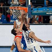 Anadolu Efes's Estaban Batista (R) during their Turkish Basketball League match Anadolu Efes between Mersin BSB at Sinan Erdem Arena in Istanbul, Turkey, Saturday, January 14, 2012. Photo by TURKPIX