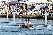 Henley-on-Thames. United Kingdom.  USA W2- making thie way to the start of the final  at the 2017 Henley Royal Regatta, As the New York Athletic Club. Henley Reach, River Thames. <br /> <br /> <br /> 15:09:46  Sunday  02/07/2017   <br /> <br /> [Mandatory Credit. Peter SPURRIER/Intersport Images.