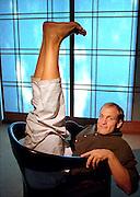 Actor and yoga aficionado Woody Harrelson, at Hotel Nikko, L.A.