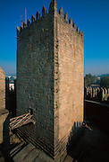 PORTUGAL, NORTH, MINHO Guimaraes, castle tower keep