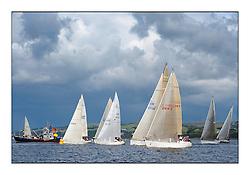 Largs Regatta Week - August 2012..Class 2 Fleet start with CV Grace Ritchie,