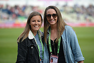 Lancashire and Women duo Alex Hartley and Kate Cross during the Vitality T20 Finals Day Semi Final 2018 match between Worcestershire Rapids and Lancashire Lightning at Edgbaston, Birmingham, United Kingdom on 15 September 2018.