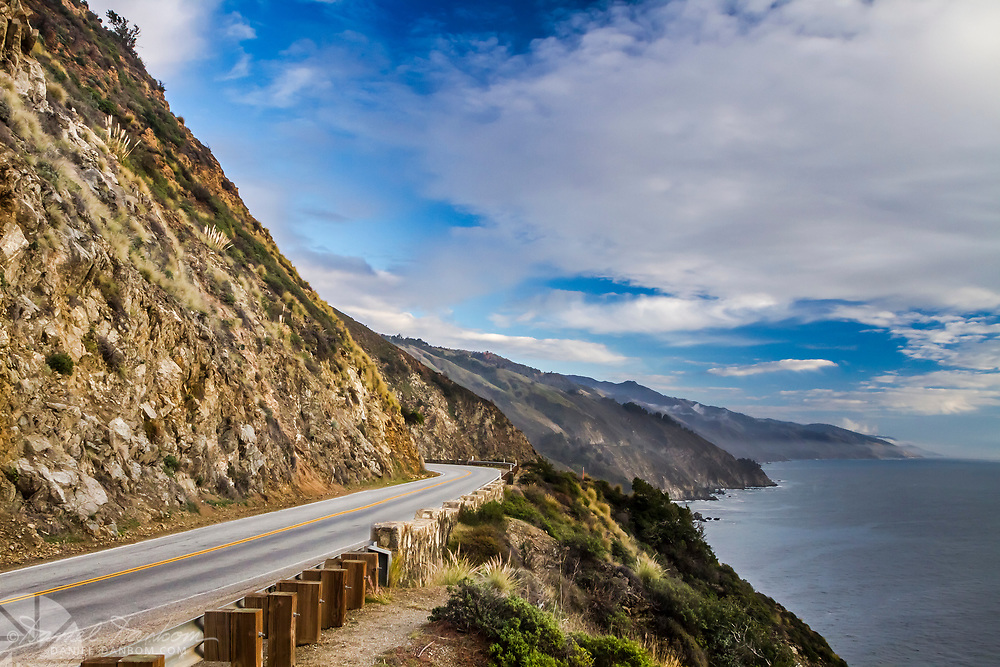 California Highway 1 at Grimes Point, looking south on the Big Sur Coast