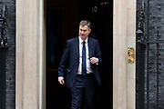 Justice Secretary David Gauke leaves 10 Downing Street following a weekly cabinet meeting on 25th June 2019 in London, United Kingdom.