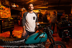 Paul Andrade at a Standard Motorcycle Co party during Daytona Bike Week. Orlando, FL. USA. Saturday March 10, 2018. Photography ©2018 Michael Lichter.