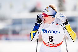 March 16, 2018 - Falun, SVERIGE - 180316 Oskar Svensson, Sverige, deppar efter finalen i sprint under Svenska Skidspelen den 16 mars 2018 i Falun  (Credit Image: © Simon HastegRd/Bildbyran via ZUMA Press)