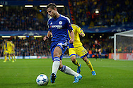 Cesar Azpilicueta of Chelsea passing the ball. UEFA Champions League group G match, Chelsea v Maccabi Tel Aviv at Stamford Bridge in London on Wednesday 16th September 2015.<br /> pic by John Patrick Fletcher, Andrew Orchard sports photography.